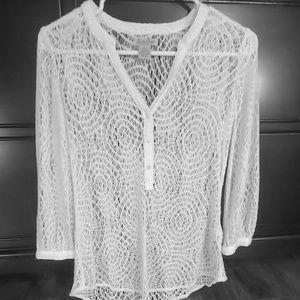 Lucky Brand - Unique woven thread design top